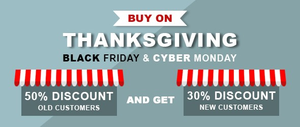 Thanksgiving Day, Black Friday & Cyber Monday 2018