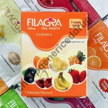 Filagra 100mg Gel Shots 1 Week Pack 7 Delicious Flavours