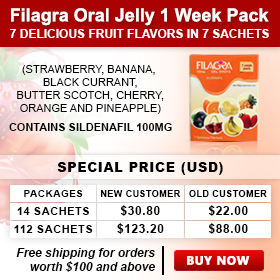 Filagra Oral Jelly 1 Week Pack